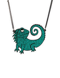 Fashion A50 Chameleon Chameleon Acrylic Necklace
