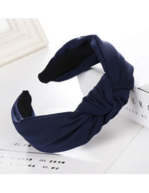 Fashion Navy Cross-knotted Wide-edged Headband