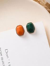 Fashion B Orange Contrast Irregular Geometric Earrings