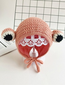Fashion Pink Eye Strap Ear Protection Baby Hat