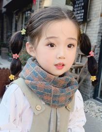 Fashion Dark Green Plaid Plaid Children's Collar