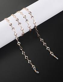 Fashion Golden Round Cutout Eyeglasses Chain