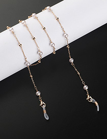 Fashion Golden Beaded Pearl Glasses Chain