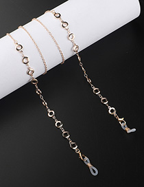 Fashion Golden Round Cutout Eyeglasses Chain