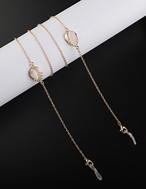 Fashion Golden Leaf Glasses Chain