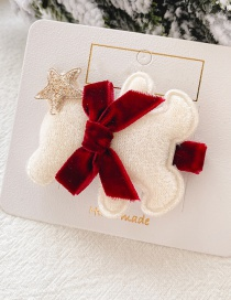 Fashion 5 # White Bear Hair Clip Little Bear Star Bow Child Hairpin