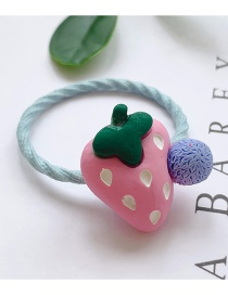 Fashion Pink Strawberry-hair Rope Strawberry Hit Color Children's Hair Rope
