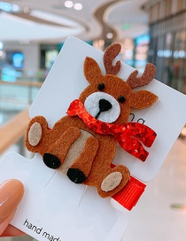 Fashion Elk Christmas Elk Child Hair Clip