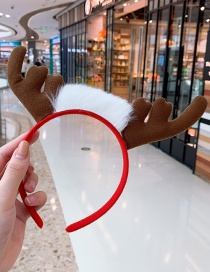 Fashion Hairy Red Coffee Color Hair Hoop Antlers Hit Color Children's Headband
