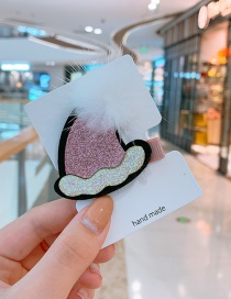 Fashion Pink Christmas Hat Christmas Hat Hair Ball Child Hair Clip