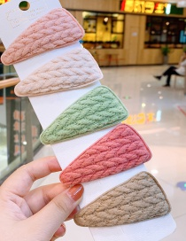 Fashion Triangle Light Wool Triangular Wool Children's Hair Clip Set