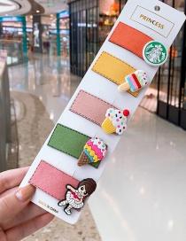 Fashion Ice Cream Series # 5piece Set Ice Cream Girl Hair Clip Set