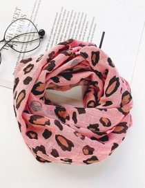Fashion Rose Pink Leopard Print Scarf