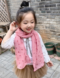Fashion Rose Pink Strawberry Children's Scarf