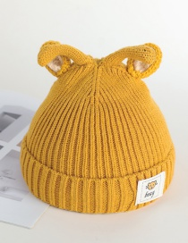 Fashion 17 # Rabbit Ears-yellow Rabbit Ears Baby Hat