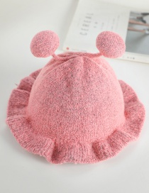 Fashion 24 # Little Bee-pink Bee Lace Baby Hat