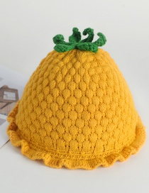 Fashion Green Strawberry Lace Baby Hat