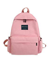Fashion Pink Letter Stitching Backpack