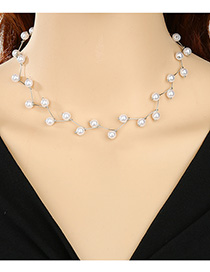 Fashion Silver Pearl Pearl Bamboo Necklace