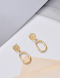 Fashion Golden Irregular Geometric Stud Earrings