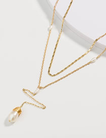 Fashion Pearl Irregular Pearl Multilayer Necklace