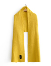 Fashion Yellow Knitted Scarf With Alphabet