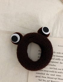 Fashion Deep Coffee Small Frog High Elastic Hair Rope