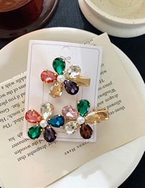 Fashion A Flower-colored Rhinestone Pearl Flower Hairpin Petals (single Price)