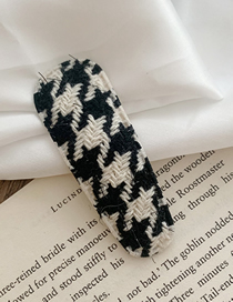 Fashion Water Droplets-off-white Houndstooth Fabric Drop Hair Clip