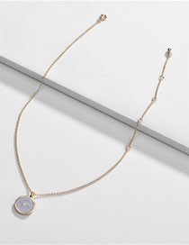 Fashion Gray Alloy Drip Lightning Round Necklace