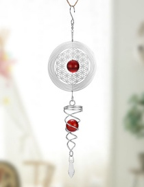 Fashion Silver Geometric Round Hollow Crystal Ball Wind Chimes
