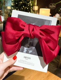 Fashion Red Wine Double Bow Hair Clip