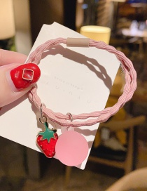 Fashion Pink Strawberry Strawberry Hit Color Hair Rope