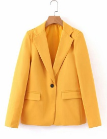 Fashion Yellow Small Button Small Suit