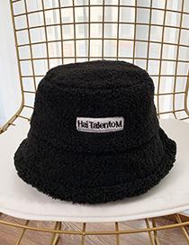 Fashion Black Patched Lamb Fur Hat