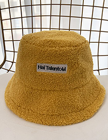 Fashion Yellow Patched Lamb Fur Hat