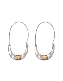 Fashion Silver Crescent Wrap Earrings