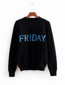 Fashion Friday Lettering Core Yarn Knitted Sweater