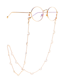 Fashion Golden Moon Skeleton Chain Glasses Chain