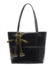 Fashion Sequin Black With Pendant Paneled Crossbody Bag