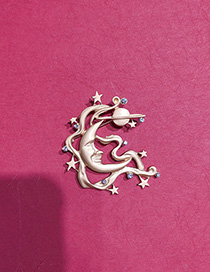 Fashion Golden Brooch With Stars And Moon