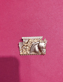 Broche De Galope De Corcel En Relieve