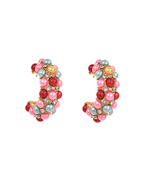Fashion Color Alloy Color Pearl Earrings