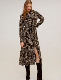 Fashion Black Zebra Print Dress