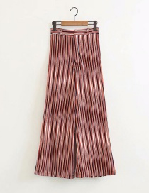 Fashion Color Striped Printed Straight Pants