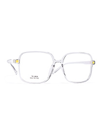 Fashion Grey Box Square Large Frame With No Power Can Be Equipped With Myopia Unisex Flat Mirror