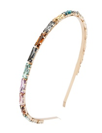 Fashion Jin Cai Alloy Rectangular Diamond Headband
