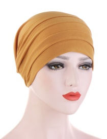 Fashion Turmeric Crystal Hemp Forehead Turban Hat