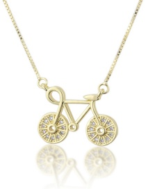 Fashion Gold-plated Diamond Necklace