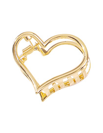 Fashion Heart-shaped Alloy Love Hollow Grab